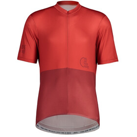 Maloja PushbikersM. Basic 1/2 Fietsshirt Korte Mouwen Heren, red monk